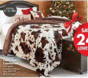 Faux Fur Comforter