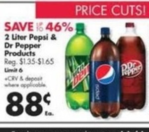 2 Liter Pepsi & Dr Pepper Products