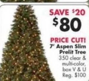 """7"""" Aspen Slim Prelit Tree"""