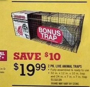 2-Pack Live Animal Traps