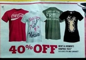 Men's and Women's Graphic Tees
