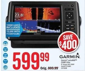 "Garmin echoMAP Chirp 93sv 9"" Display"