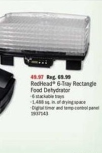 RedHead 6-Tray Rectangle Food Dehydrator