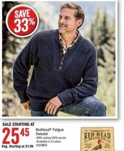 RedHead Men's Fatigue Sweater