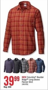 Columbia Boulder Ridge Long-Sleeve Flannel Shirt