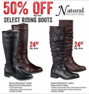 Natural Reflection Ladies' Megan Buckle Riding Boots