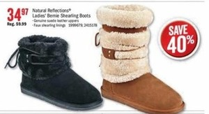 Natural Reflections Ladies Bernie Shearling Boots
