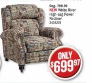 White River High-Leg Power Recliner