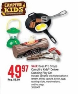 Bass Pro Shops Campfire Kids' Deluxe Camping Play Set