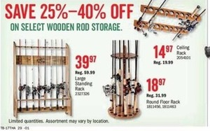Select Wooden Rod Storage