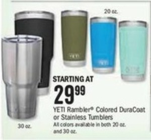 Yeti Rambler Colored DuraCoat or Stainless Tumblers