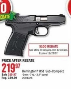 Remington R51 Sub-Compact - After Rebate