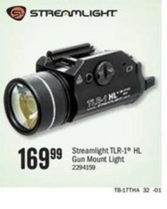 Streamlight TLR-1 HL Gun Mount Light