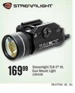 Streamlight TLR-1 HL Gun Mount Light