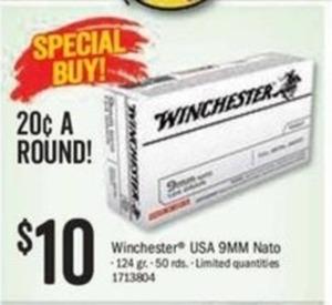 Winchester USA 9MM Nato