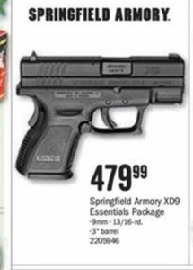 Springfield Armory XD9 Essentials Package