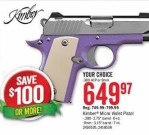 Kimber Micro Violet Pistol