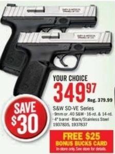 S&W SD-VE Series Handgun