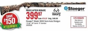 Stoeger Model 3000 Semi-Auto Shogun After Rebate