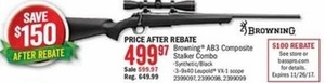 Browning AB3 Composite Stalker Combo After Rebate