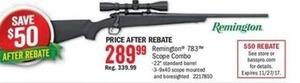 Remington 783 Scope Combo After Rebate