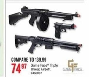 Game Face Triple Threat Airsoft Guns