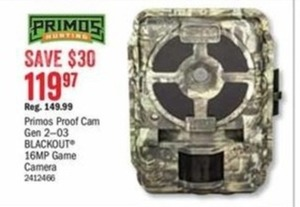 Primos Proof Cam Gen 2-03 Blackout 16mp Game Camera