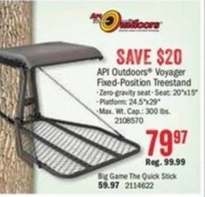 API Outdoors Voyager Fixed-Position Treestand