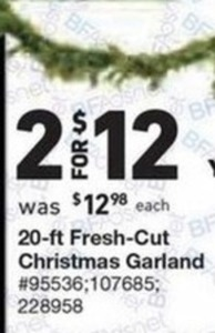 20' Fresh-Cut Christmas Garland
