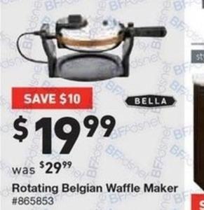 Rotating Belgian Waffle Maker