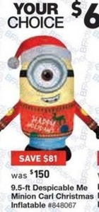 Despicable Me 9.5 Ft. Minion Carl Christmas Inflatable