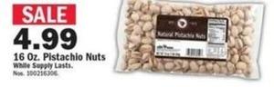 16 oz. Pistachio Nuts