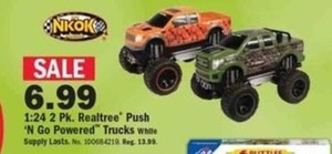 2-pk Realtree Push 'N Go Powered Trucks