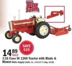 Case IH 1206 Tractor with Blade and Mower