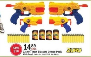 X-Shot Dart Blasters Combo Pack