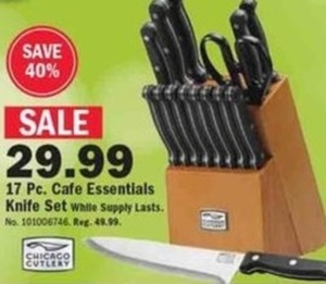 17 pc. Cafe Essentials Knife Set
