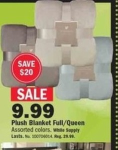 Plush Blanket Full/Queen