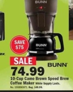 Bunn 10-Cup Camo Brown Speed Brewer Coffee Maker