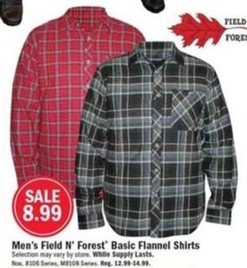Men's Field N' Forest Basic Flannel Shirts