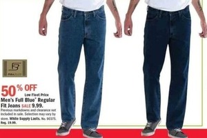 Men's Full Blue Regular Fit Jeans