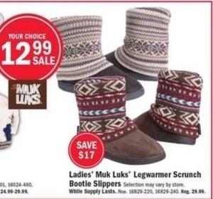 Muk Luks Women's Legwarmer Bootie Slippers