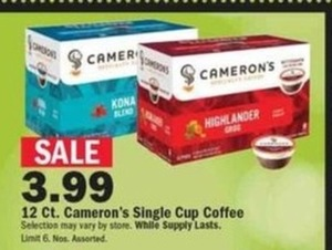 12-ct Cameron's Single Cup Coffee