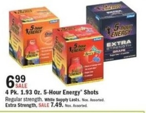 4 Pk. 1.93 Oz. 5-Hour Energy Shots