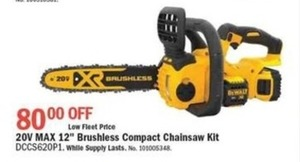 "20V Max 12"" Brushless Compact Chainsaw Kit"