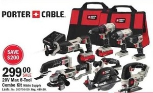 Porter Cable 20V Max 8-Tool Combo Kit