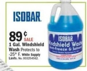 Isobar 1-Gal. Windshield Wash