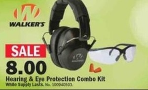 Walker's Hearing & Eye Protection Combo Kit