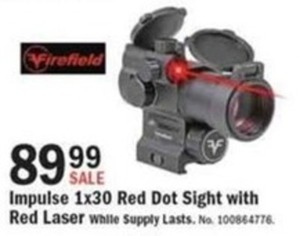 Firefield Impulse 1x30 Red Dot Sight w/ Red Laser