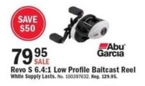 Revo S 6.4:1 Low Profile Baitcast Reel