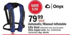 Onyx Automatic/Manual Inflatable Life Vest